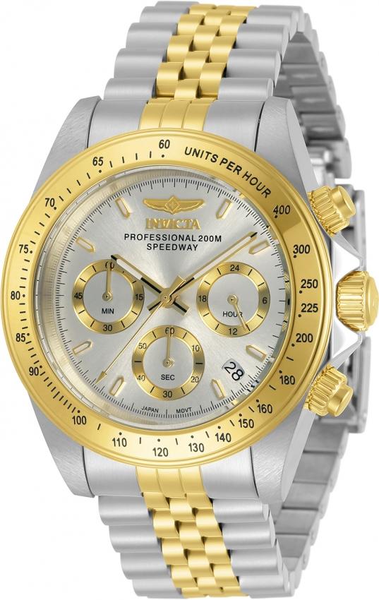 Invicta Speedway Chronograph Quartz Silver Dial Mens Watch 30991 In Metallic