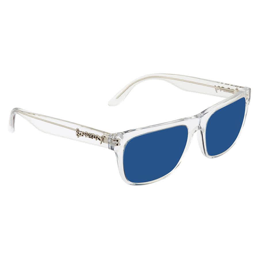 Burberry Blue Rectangular Mens Sunglasses 0be4268 302480 56