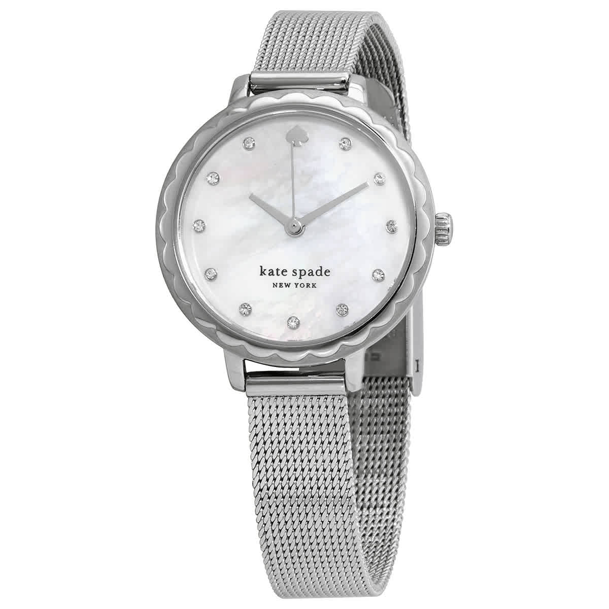 Kate Spade Morningside Quartz Crystal Watch Ksw1573 In Metallic
