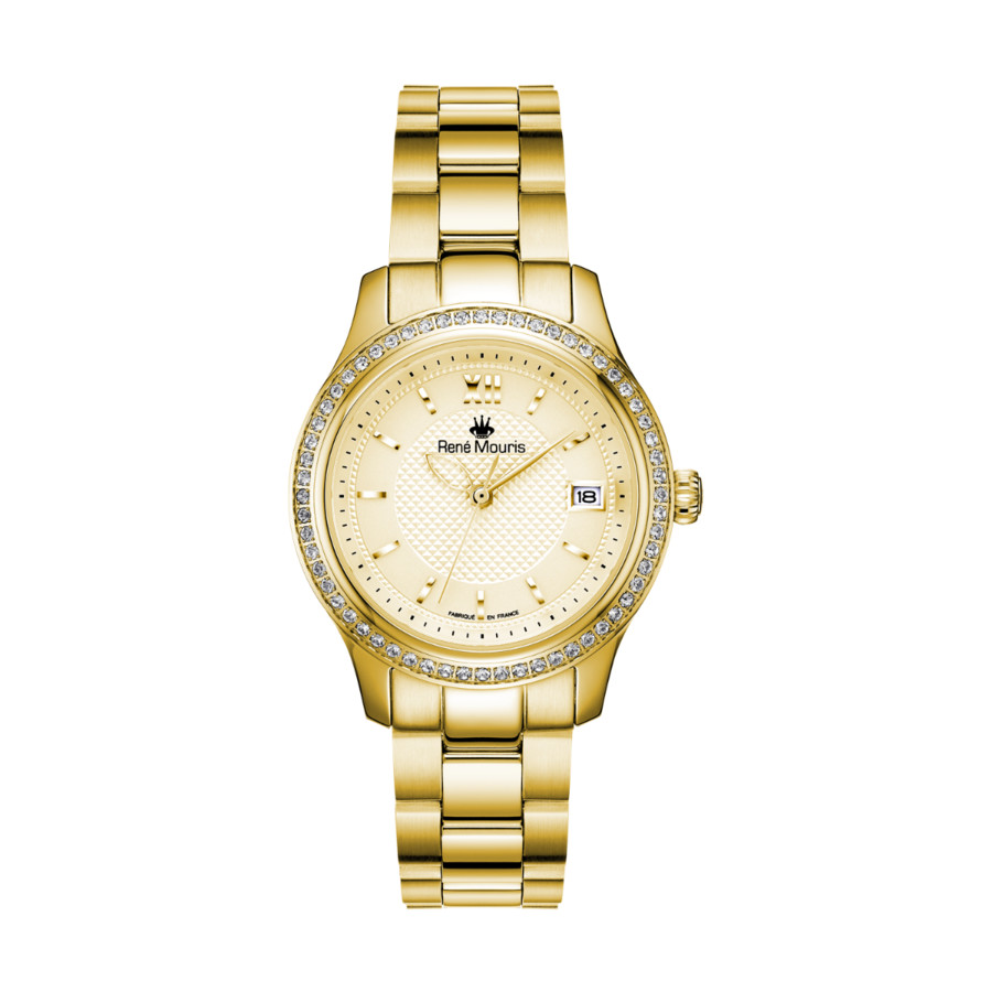 Rene Mouris Lola Champagne Dial Ladies Watch 50113rm2 In Beige,gold Tone,yellow