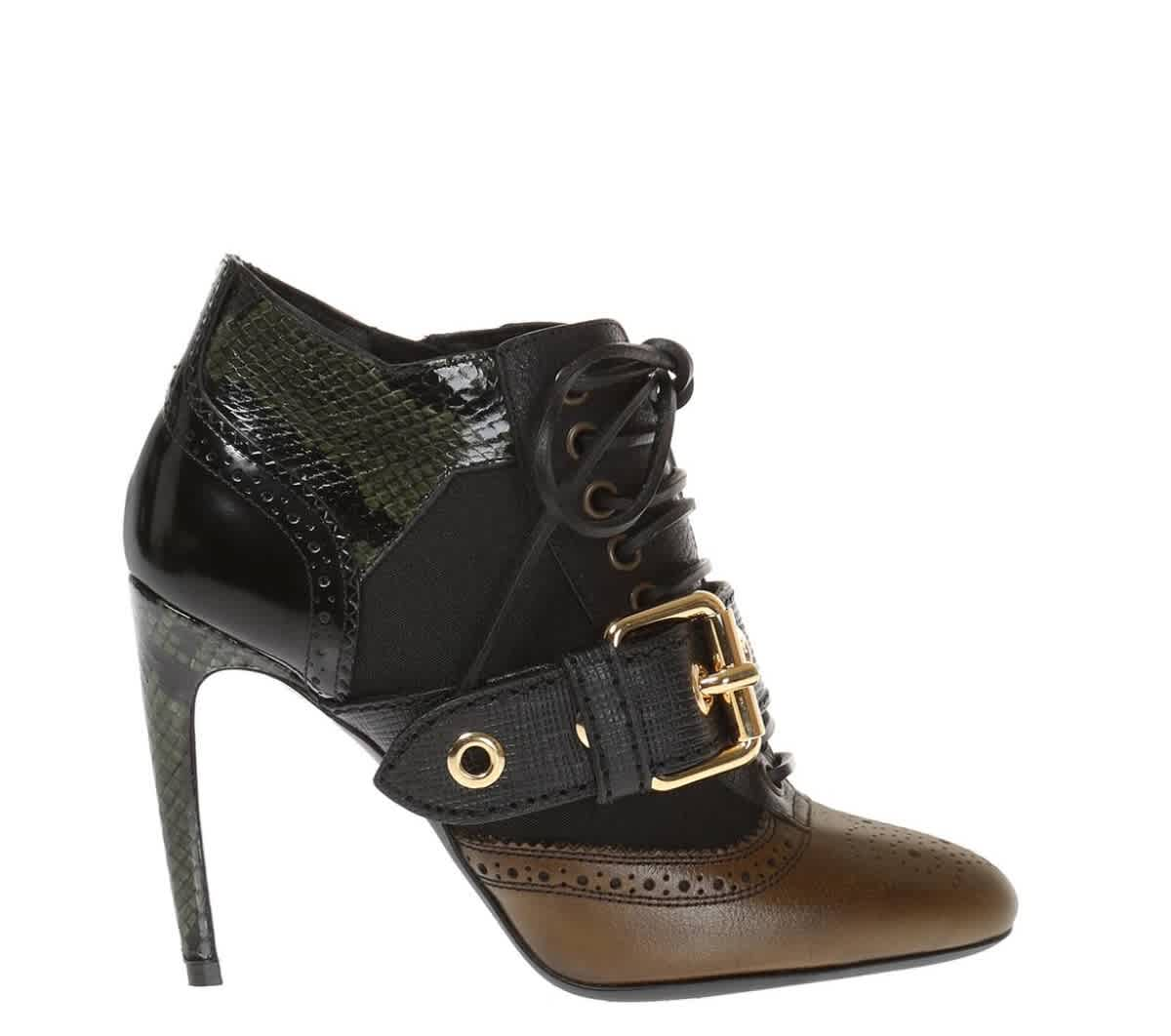 Burberry Ladies Westmarsh 100mm Ankle Boots In Green