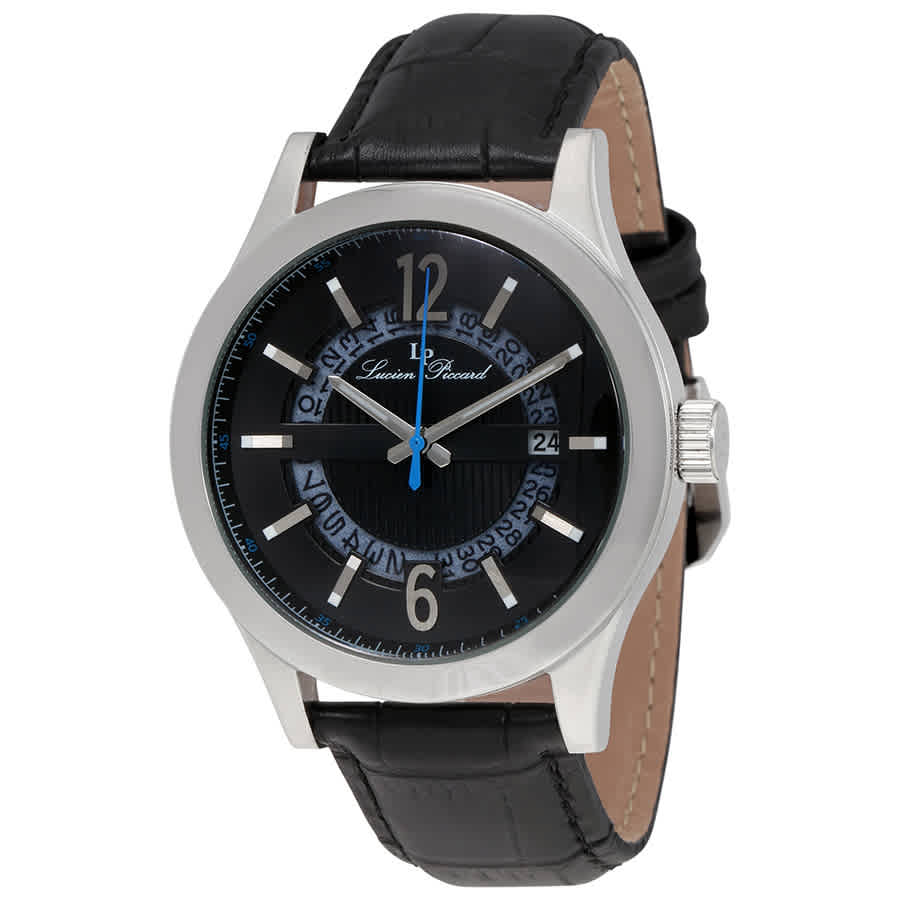 Lucien Piccard Oxford Mens Watch Lp-40020-01 In Black,silver Tone