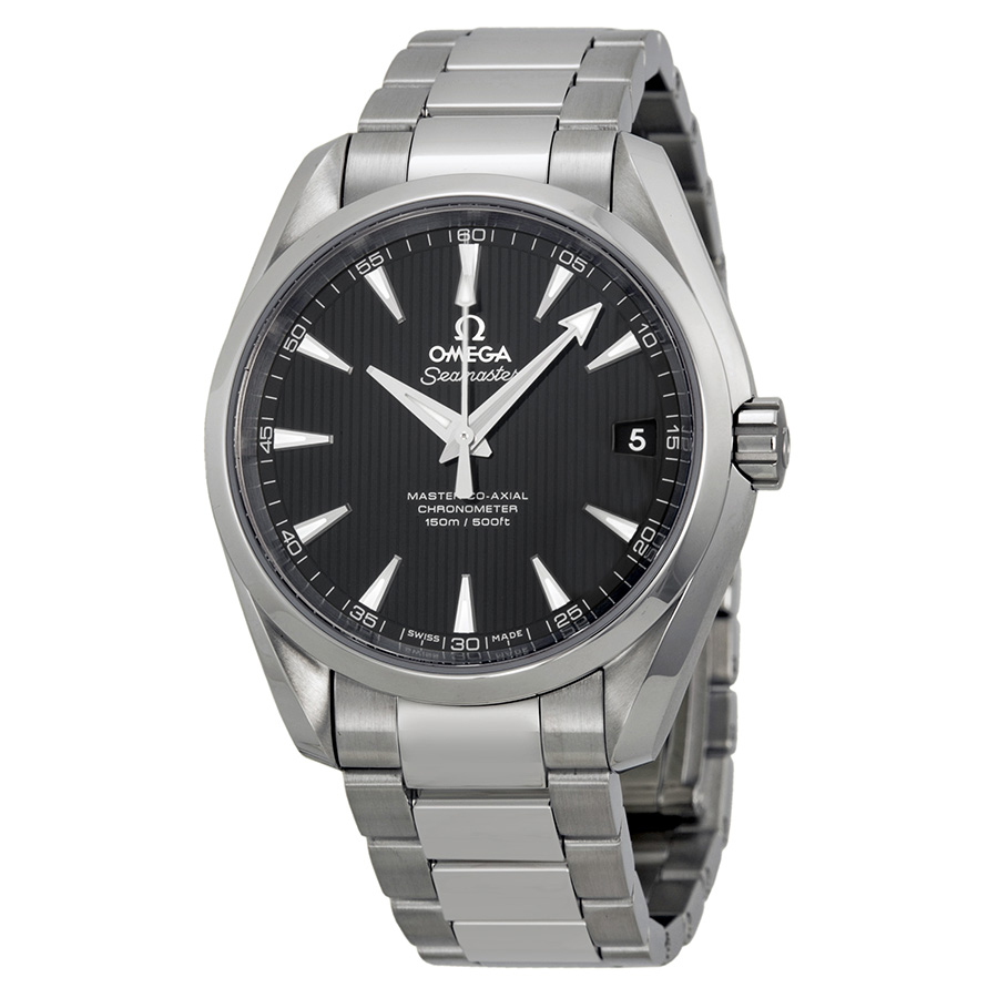 OMEGA PRE-OWNED OMEGA AQUA TERRA BLACK DIAL STAINLESS STEEL MENS WATCH 23110392101002