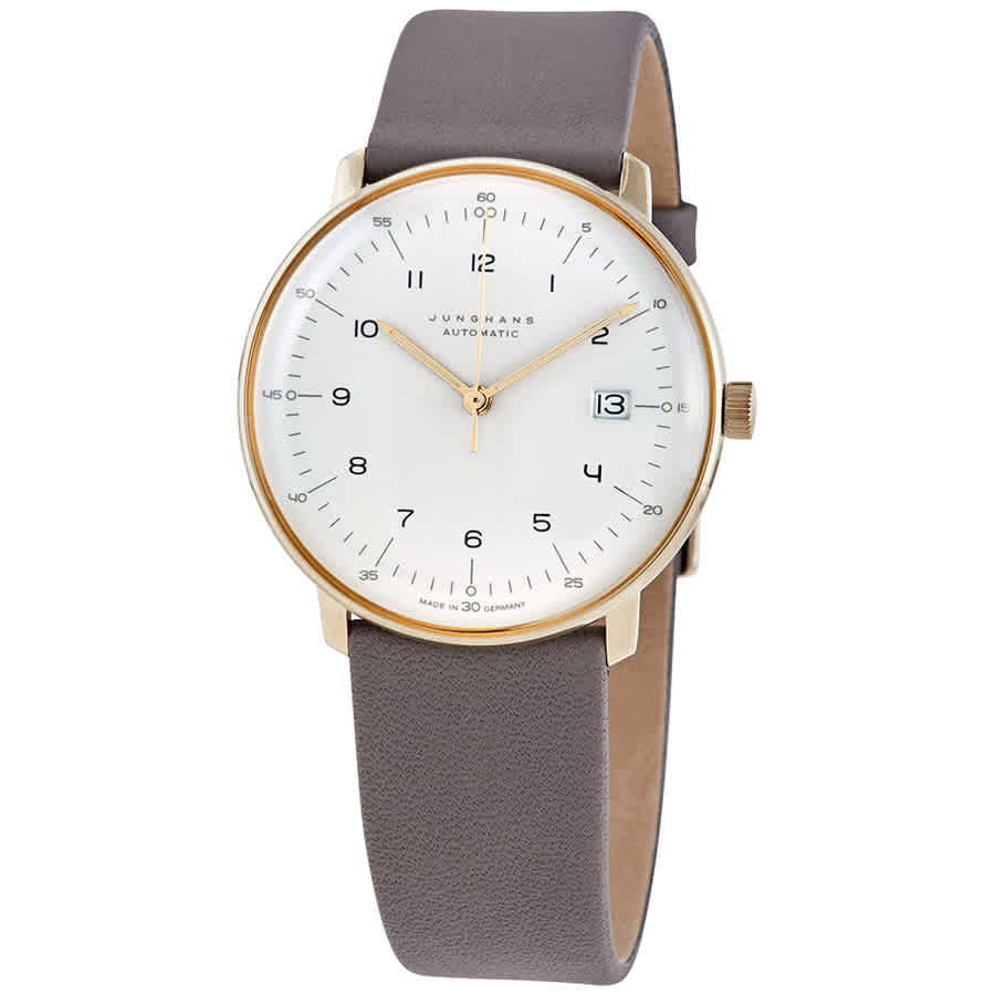 Junghans Max Bill Automatic Mens Watch 027/7806.00 In Gold Tone,grey,silver Tone