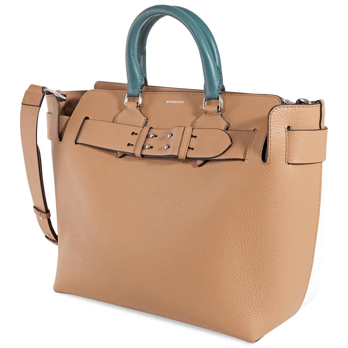 Burberry The Medium Tri-tone Leather Belt Bag In Beige,silver Tone,yellow