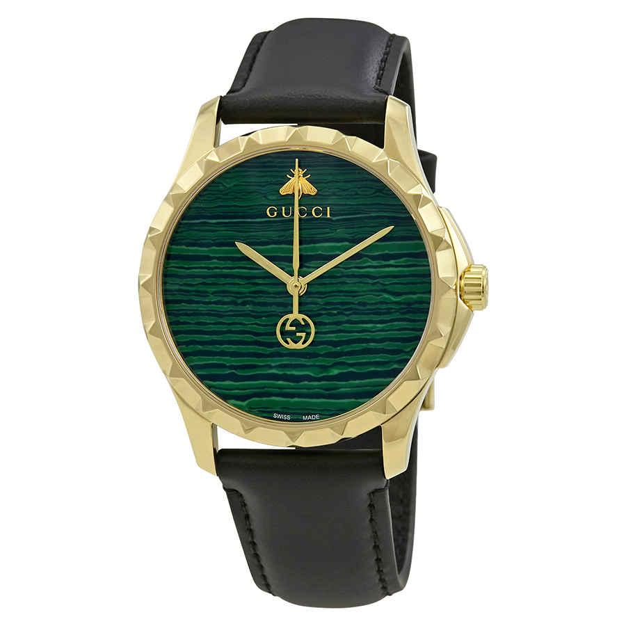 GUCCI G-TIMELESS MALACHITE GREEN DIAL MENS WATCH YA126463