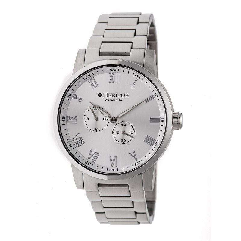 Heritor Romulus Automatic Silver Dial Mens Watch Hr6401 In Gray