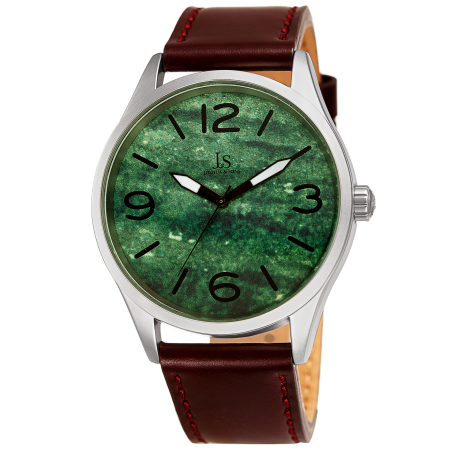 Joshua And Sons Quartz Green Dial Mens Watch Jx144gn In Brown
