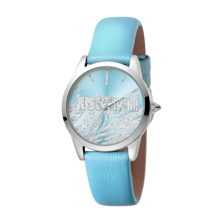 Just Cavalli Firma Quartz Blue Dial Ladies Watch Jc1l010l0425