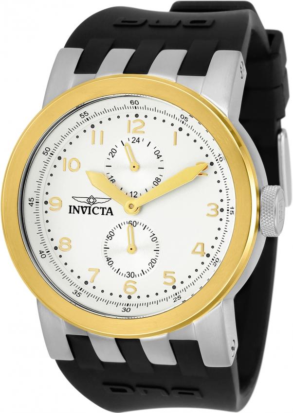 Invicta Dna Quartz Antique Silver Dial Mens Watch 31783 In Gold