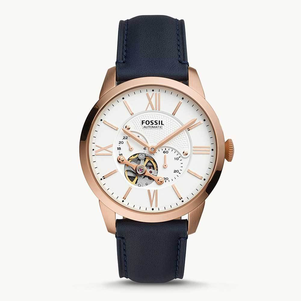 FOSSIL TOWNSMAN AUTO CHRONOGRAPH AUTOMATIC WHITE DIAL MENS WATCH ME3171