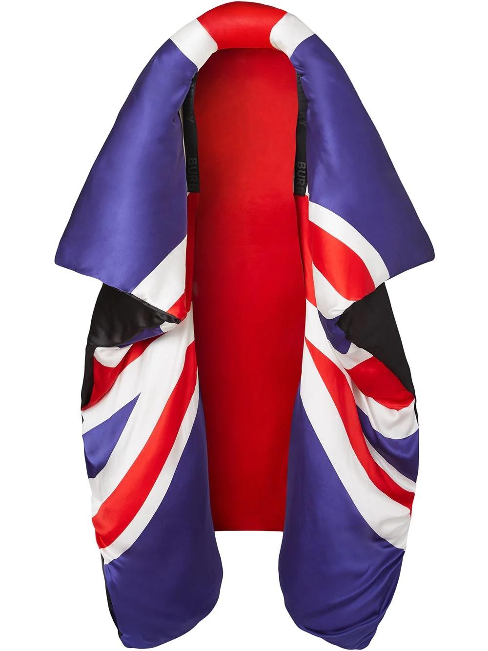 Burberry Union Jack Puffer Cape In N,a