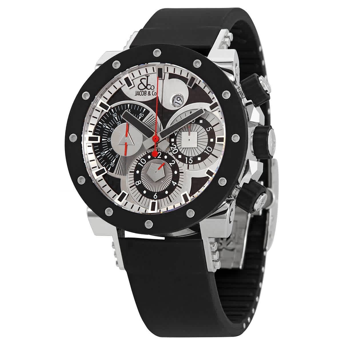 Jacob & Co. Epic Ii Limited Edition Automatic Chronograph Watch E1r In Black