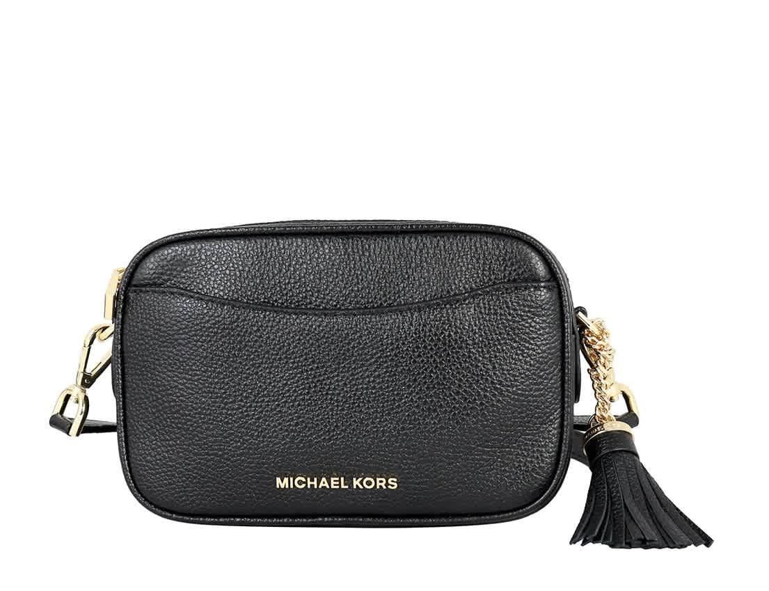Michael Kors Black Pebbled Leather Convertible Belt Bag