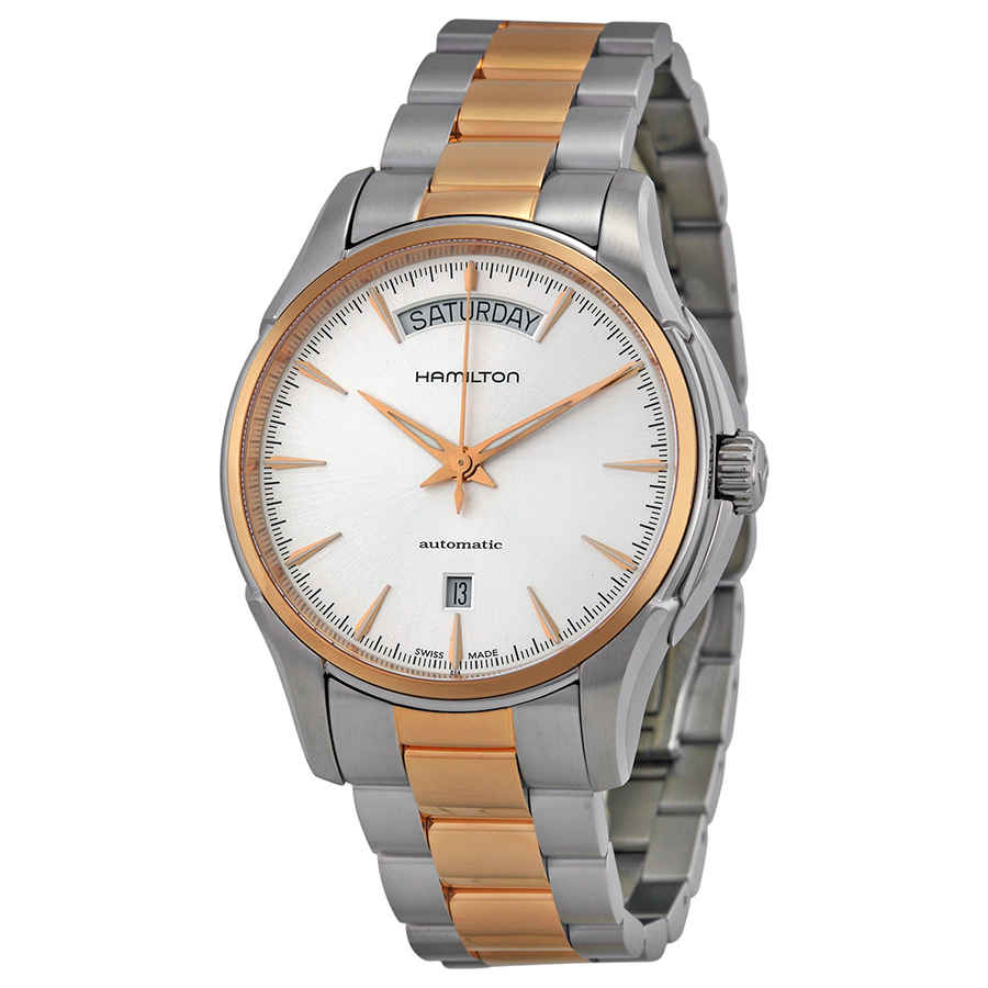 Hamilton Jazzmaster Automatic Silver Dial Two-tone Mens Watch H32595151 In Gold