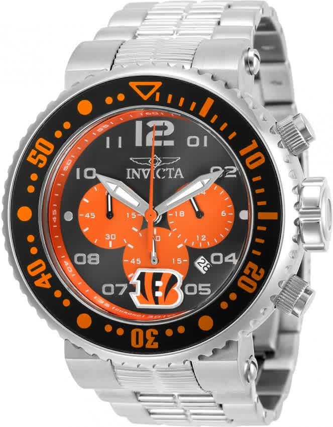 Invicta Nfl Cincinnati Bengals Chronograph Quartz Mens Watch 30261 In Metallic
