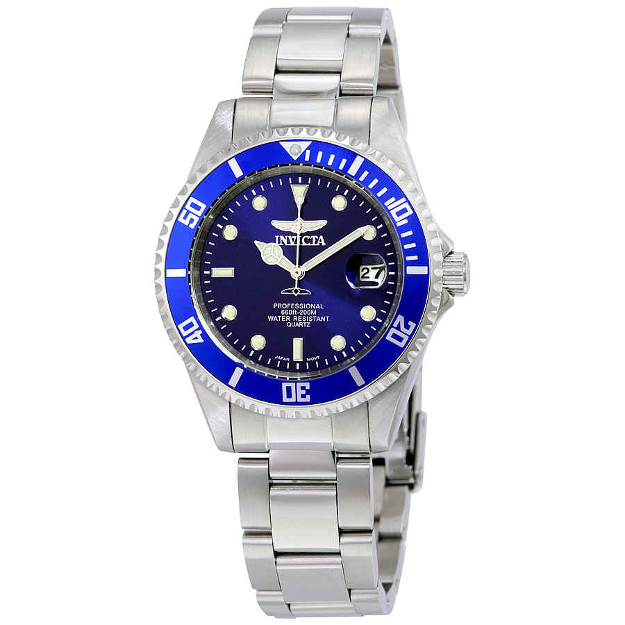 Invicta Mako Pro Diver Blue Dial Mens Stainless Steel Watch 9204ob In Blue,silver Tone