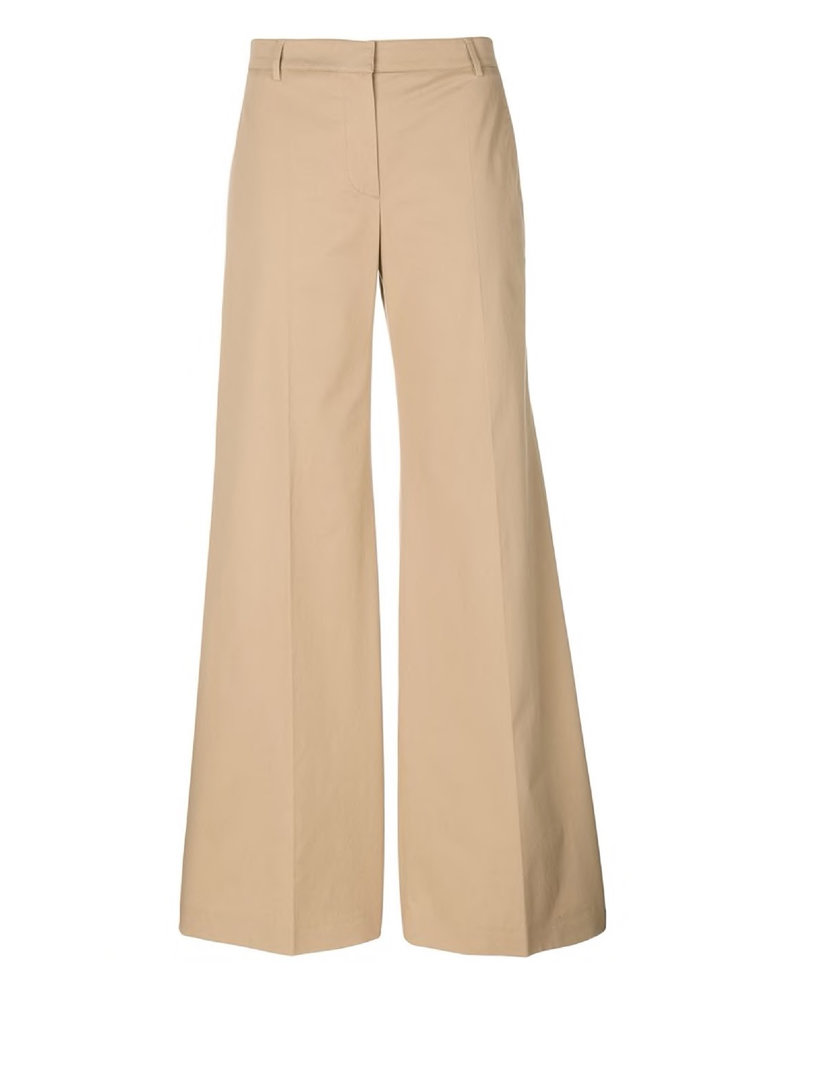 Burberry Ladies Wide Leg Trousers In Camel In Yellow