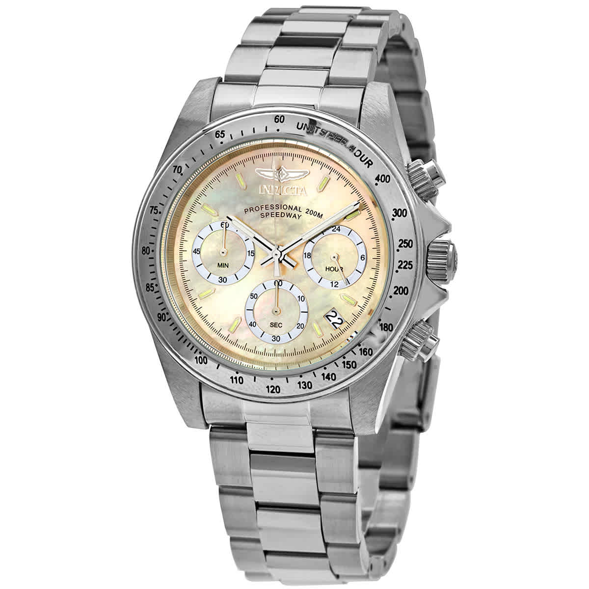 Invicta Speedway Chronograph Mother Of Pearl Dial Mens Watch 28666 In Metallic