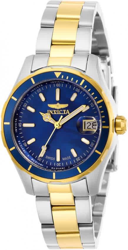 Invicta Pro Diver Quartz Blue Dial Ladies Watch 28649