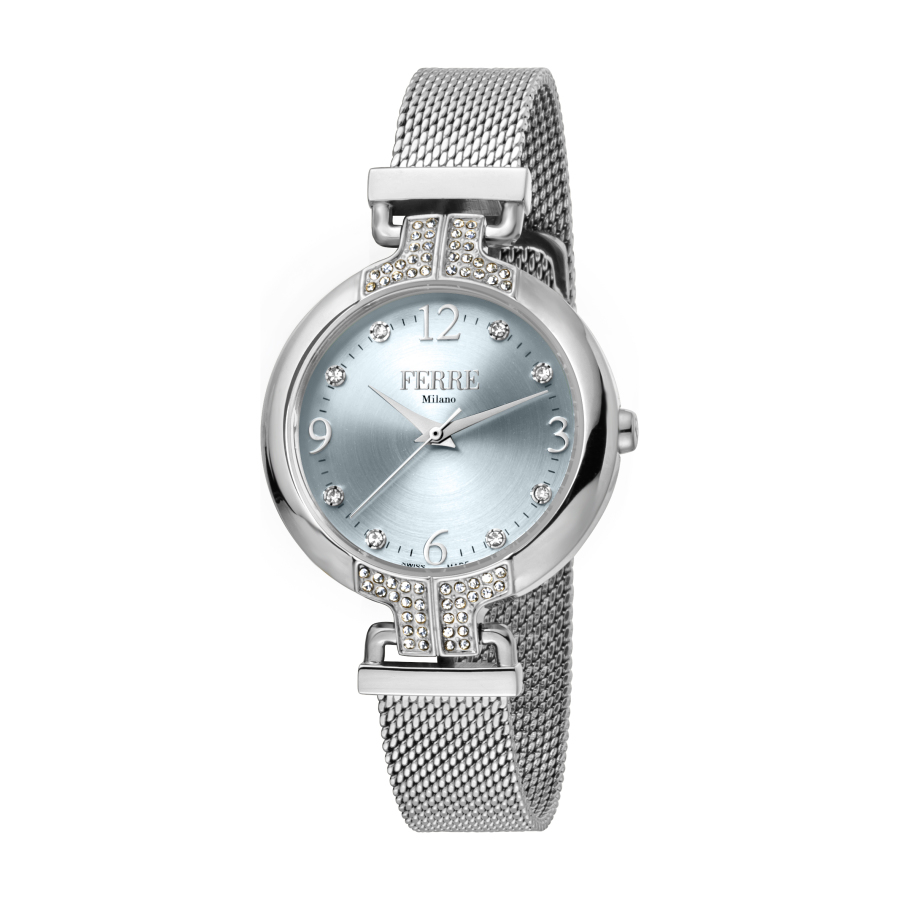 Ferre Milano Quartz Silver Dial Ladies Watch Fm1l115m0051 In Metallic