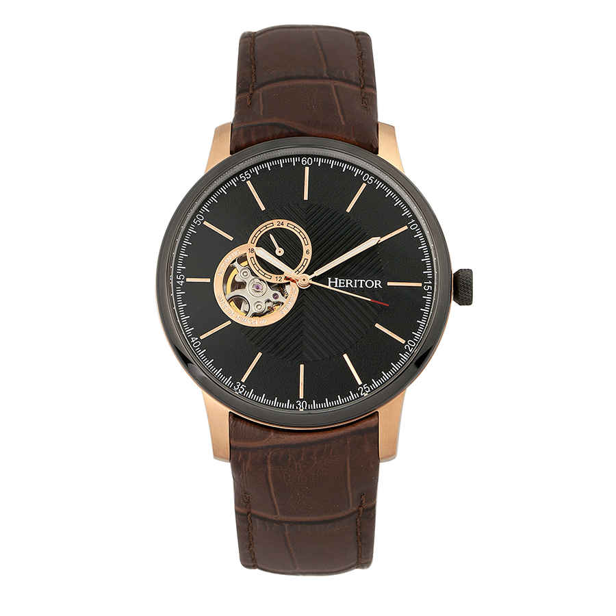 Heritor Landon Automatic Black Dial Mens Watch Hr7705