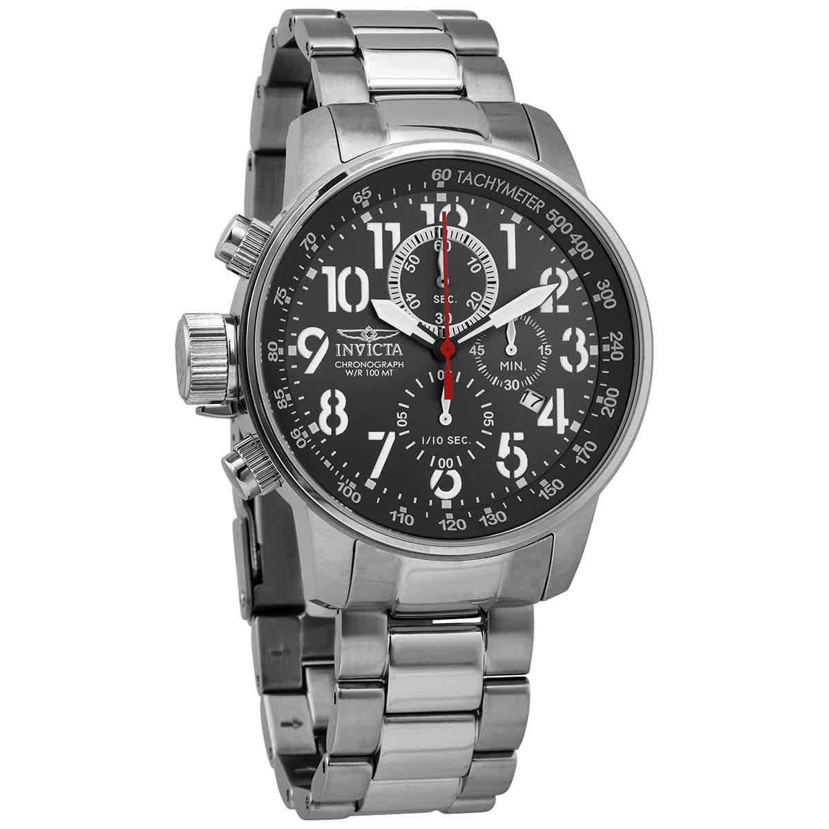 Invicta I-force Chronograph Quartz Gunmetal Dial Mens Watch 28743 In Metallic