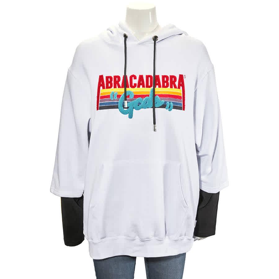 Gcds White Abracadabra Hooded Sweatshirt