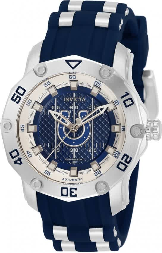 Invicta Nfl Indianapolis Colts Automatic Blue Dial Ladies Watch 32886