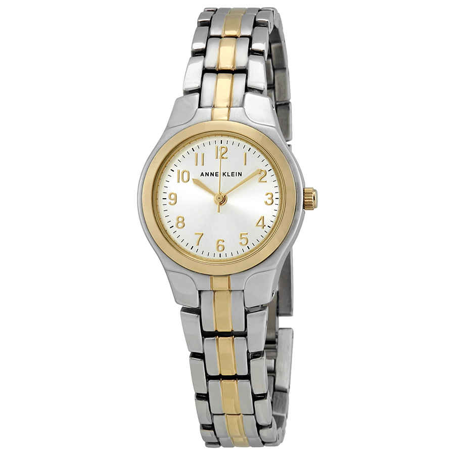 Anne Klein Silver Dial Ladies Watch 10-5491svtt In Metallic