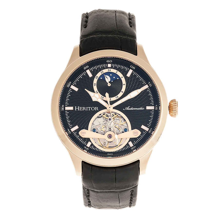 Heritor Gregory Automatic Mens Watch Hr8105 In Black