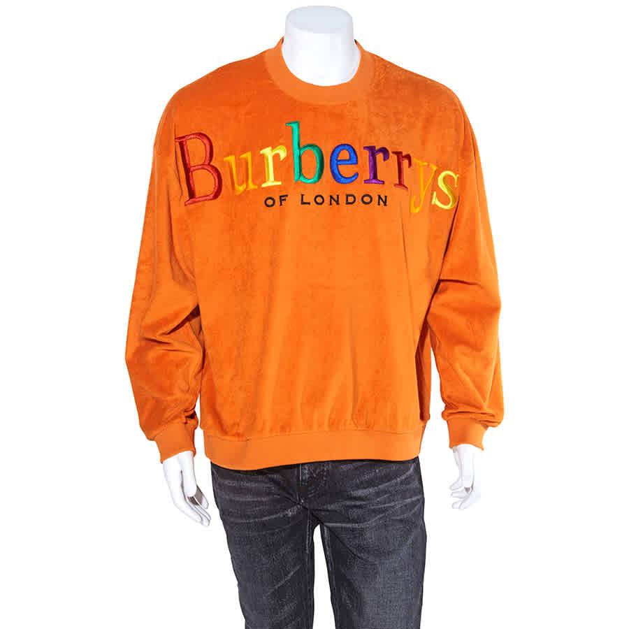 Burberry Mens Sweats Runway Tangerine Toweling Swst Rbw Bbs Emb In Green