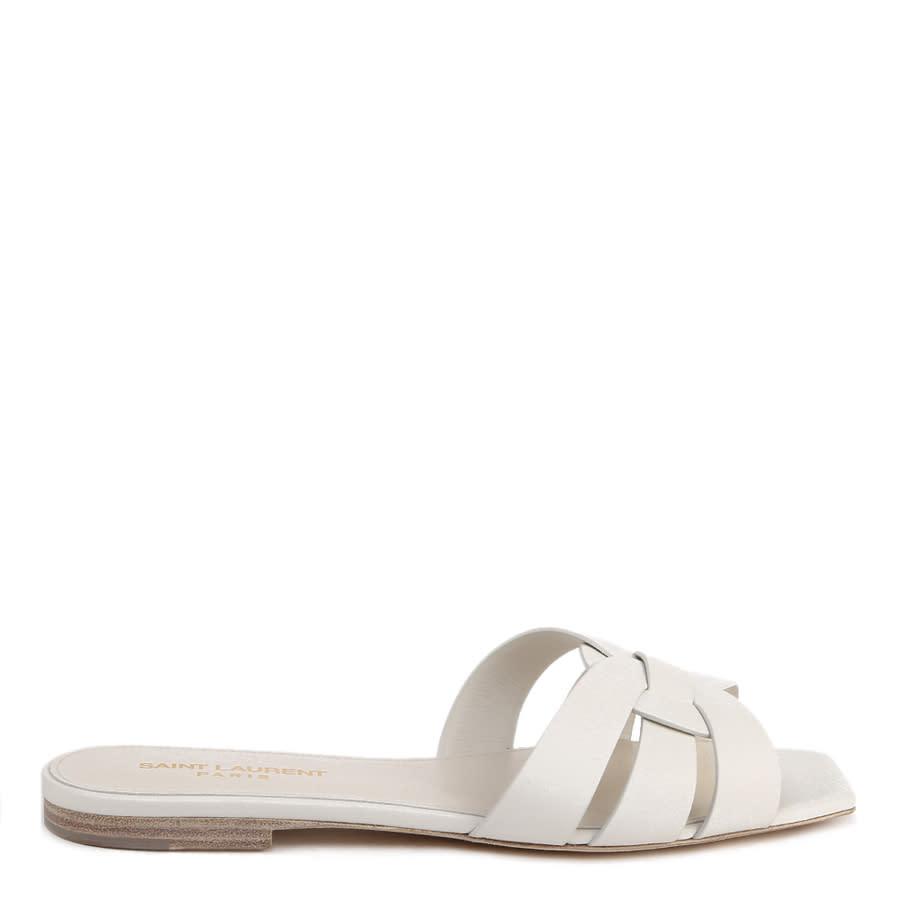 Saint Laurent Ladies White Sandals