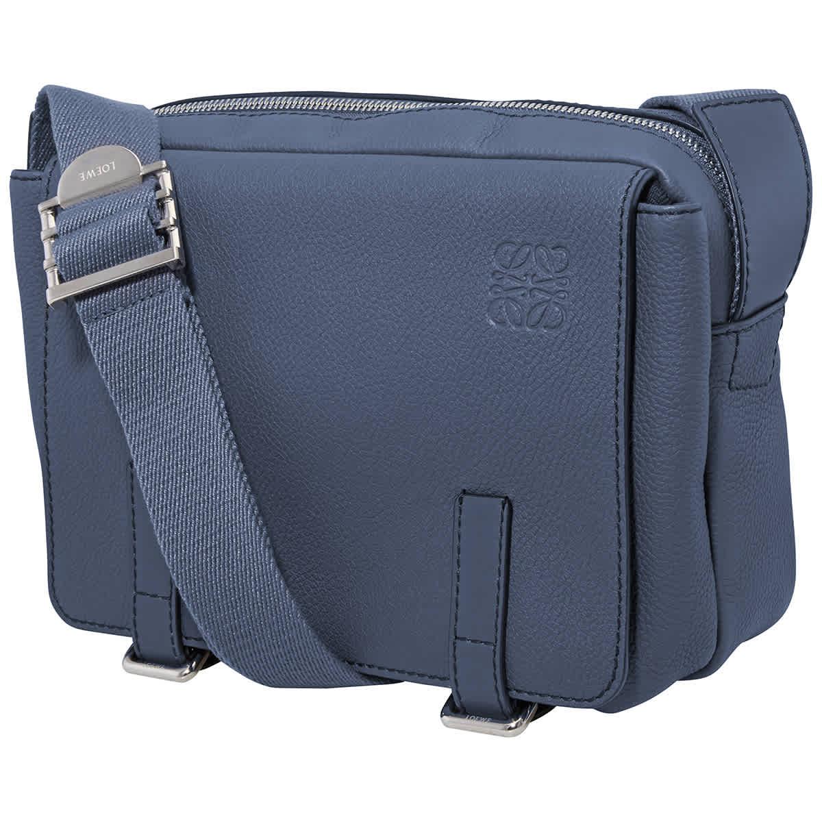 LOEWE MILITARY MESSENGER BAG IN BLUE