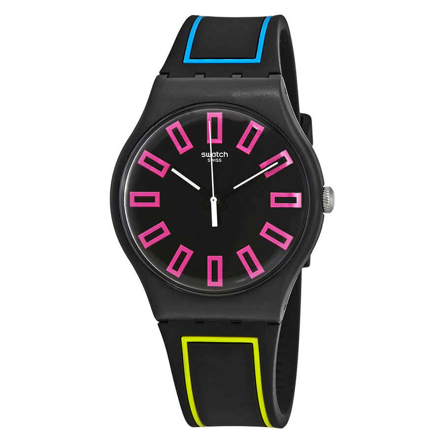 Swatch Around The Strap Black Dial Watch Suob146 In Multi