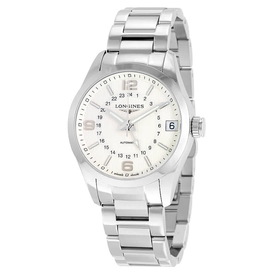Longines Conquest Classic Gmt Automatic Silver Dial Mens Watch L27994766 In Silver Tone