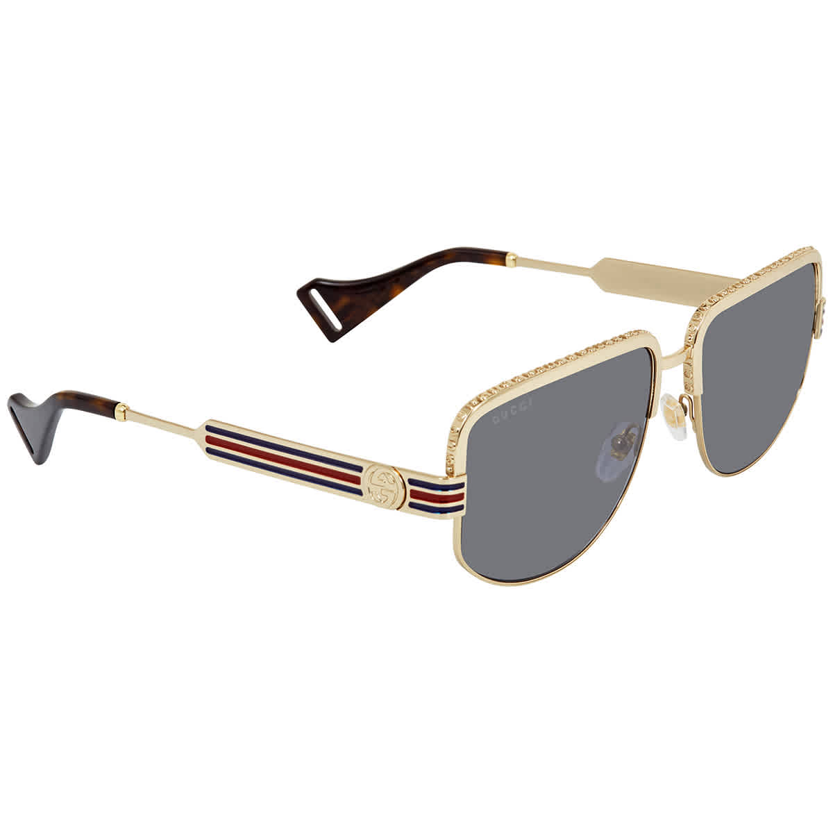 Gucci Blue Mens Sunglasses Gg0585s 004 59 In Blue,gold Tone