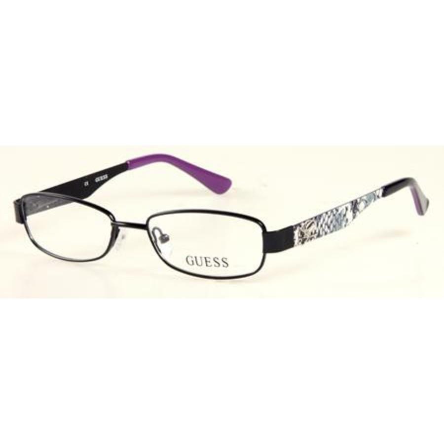 Guess Ladies Black Rectangular Eyeglass Frames Gu9093(gu9093)b8448 In Transparent