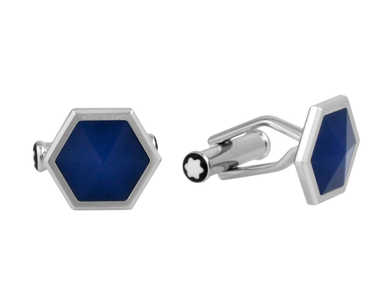 Montblanc Sartorial Blue Onyx Hexagonal Cufflinks