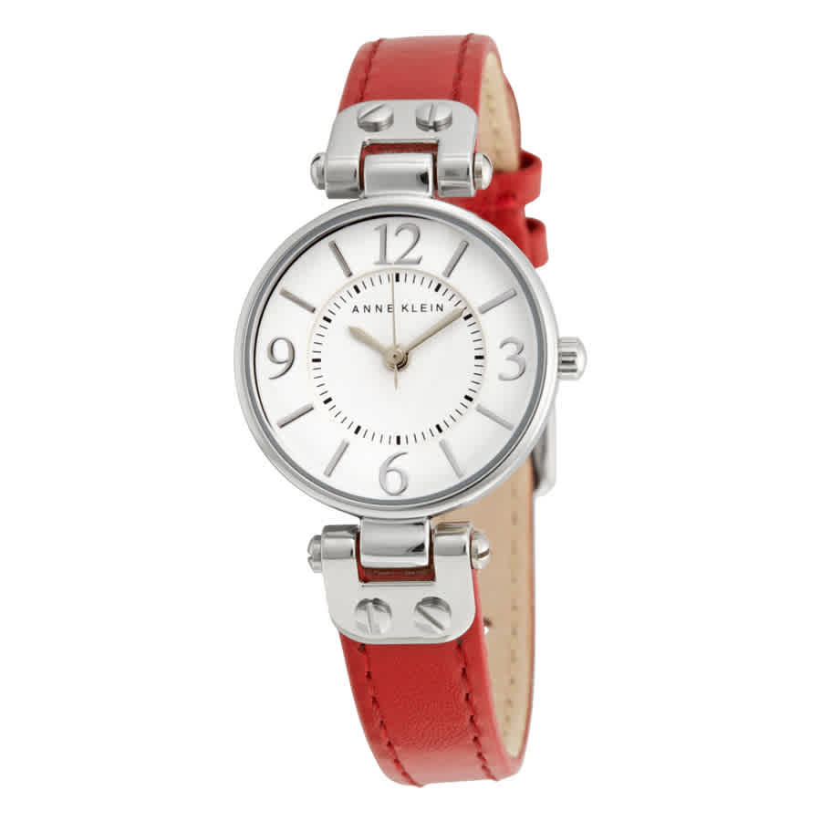 Anne Klein White Dial Ladies Watch 10-9443wtrd In Red