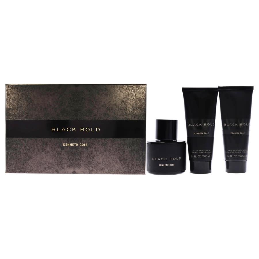 Kenneth Cole Mens Black Bold Gift Set Fragrances 608940577202