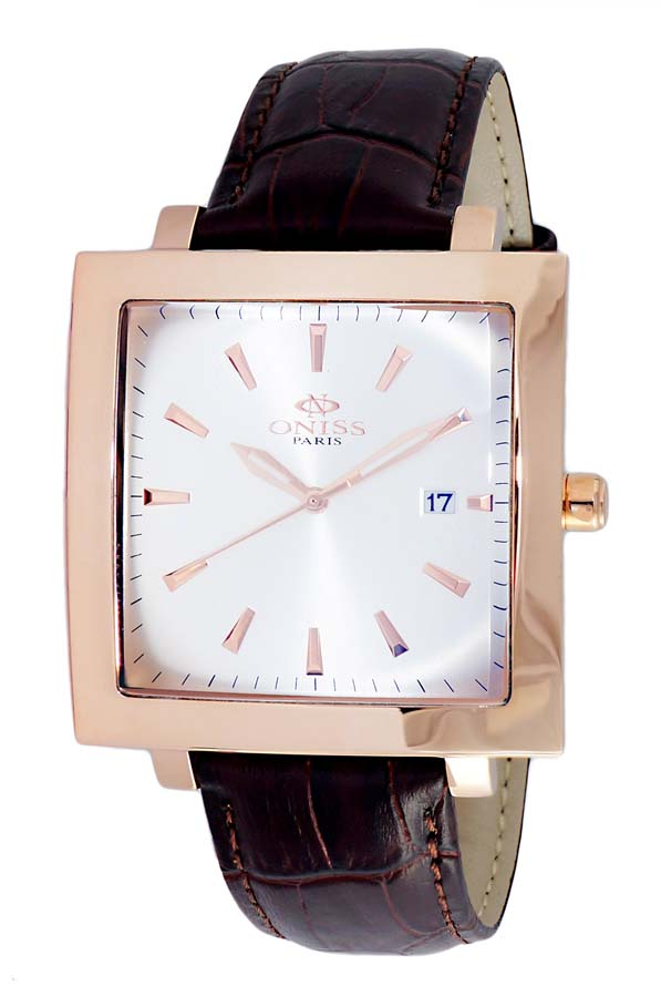 Oniss On4444 Silver Dial Mens Watch Onj4444-0rgsv In Brown