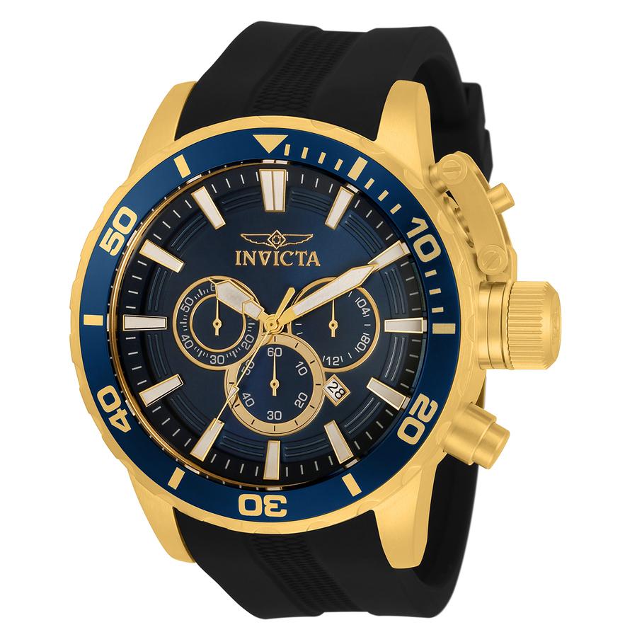 Invicta Corduba Chronograph Quartz Blue Dial Mens Watch 33702 In Black,blue,gold Tone