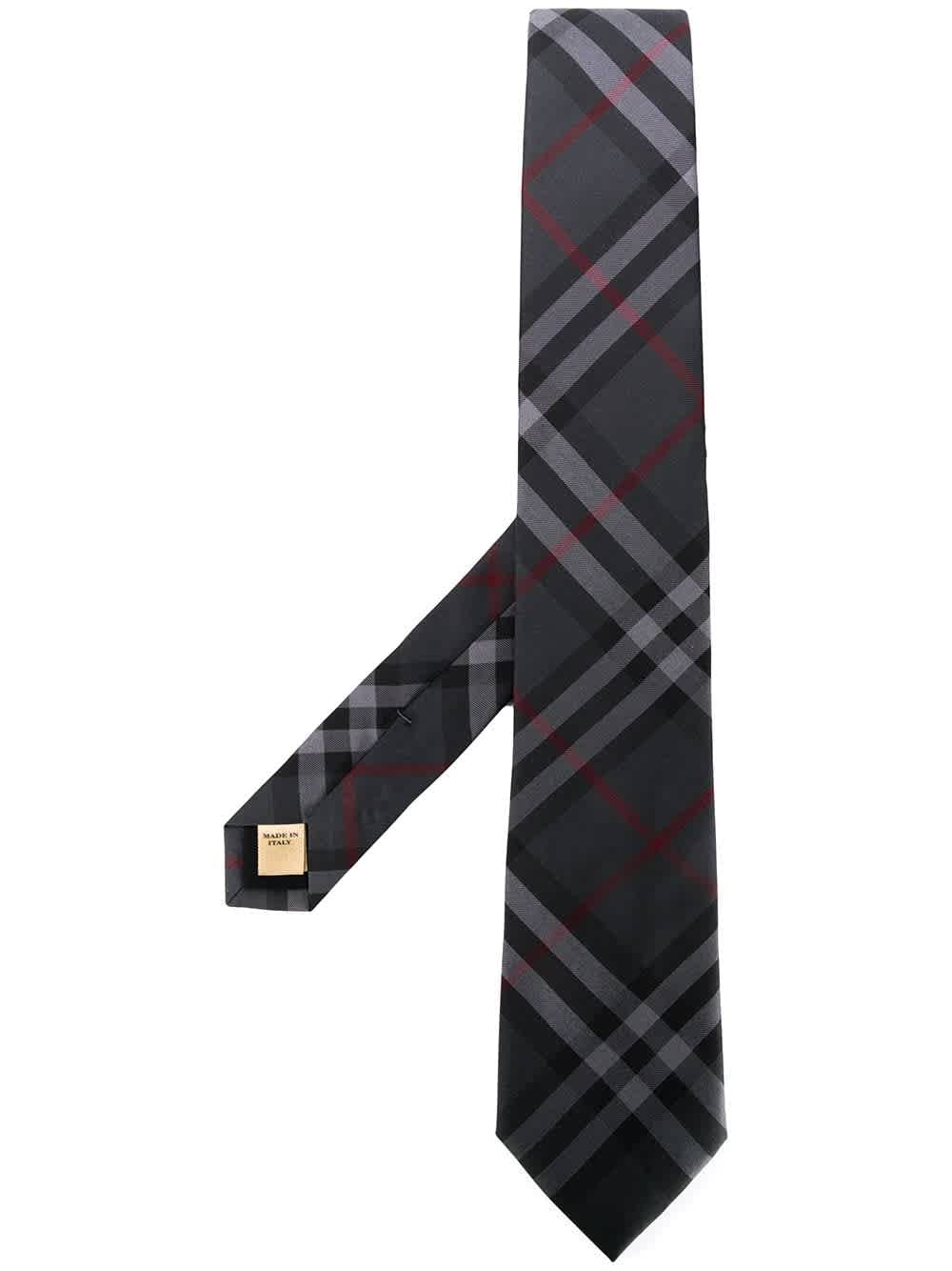 Burberry Modern Cut Vintage Check Tie In Gray