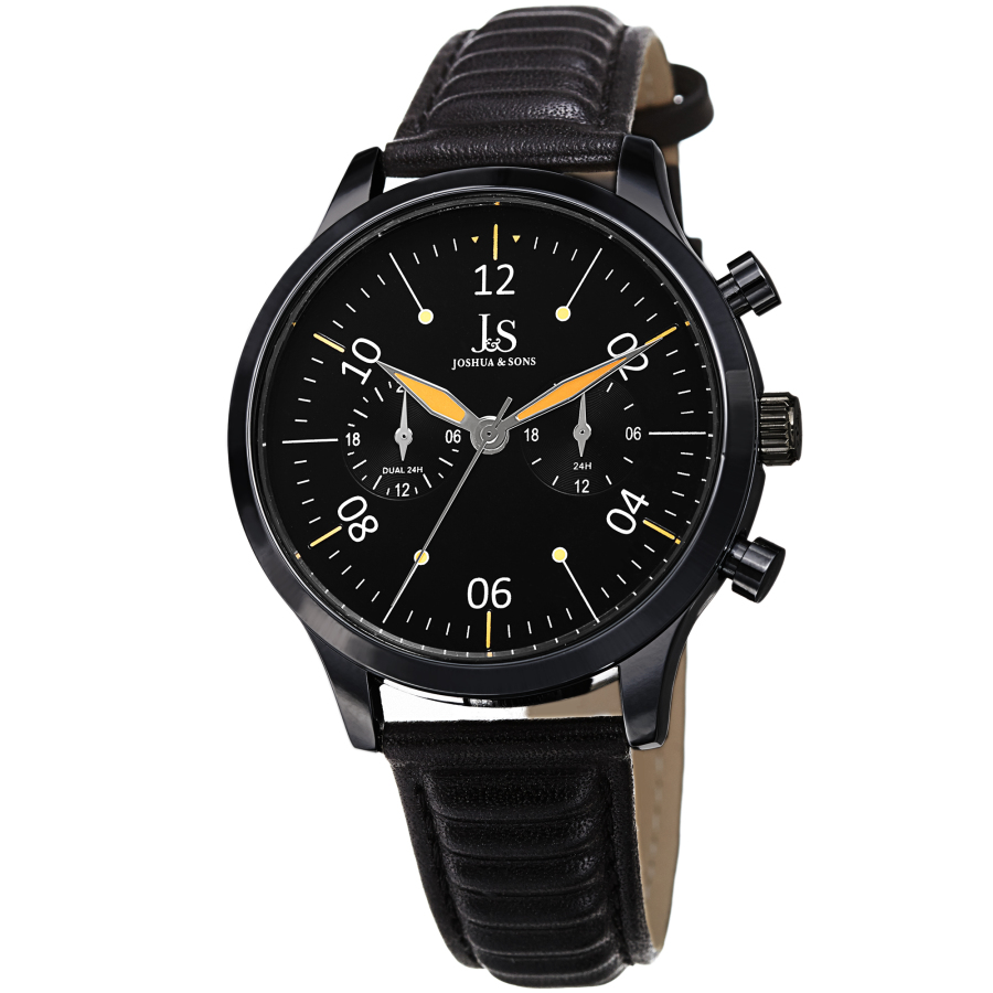 Joshua And Sons Quartz Black Dial Mens Watch Jx146bk
