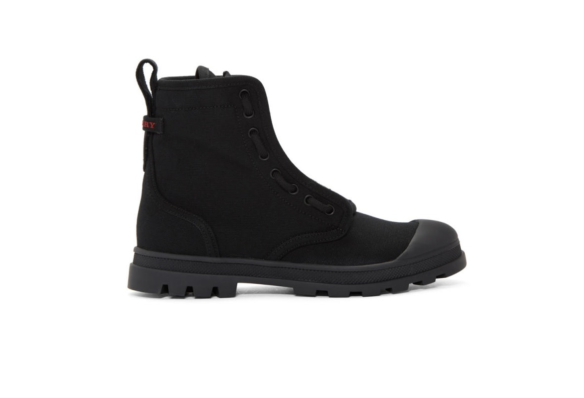 Burberry Mens Lismore Boots In Black