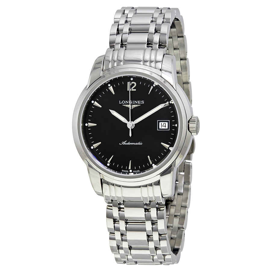 Longines Saint-imier Collection Automatic Black Dial Mens Watch L27634526 In Black,silver Tone