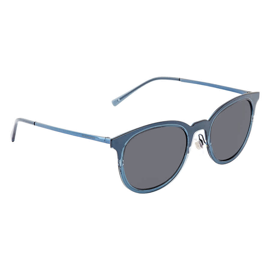 Burberry Grey Round Mens Sunglasses Be3093-12485v-52 In Blue,grey