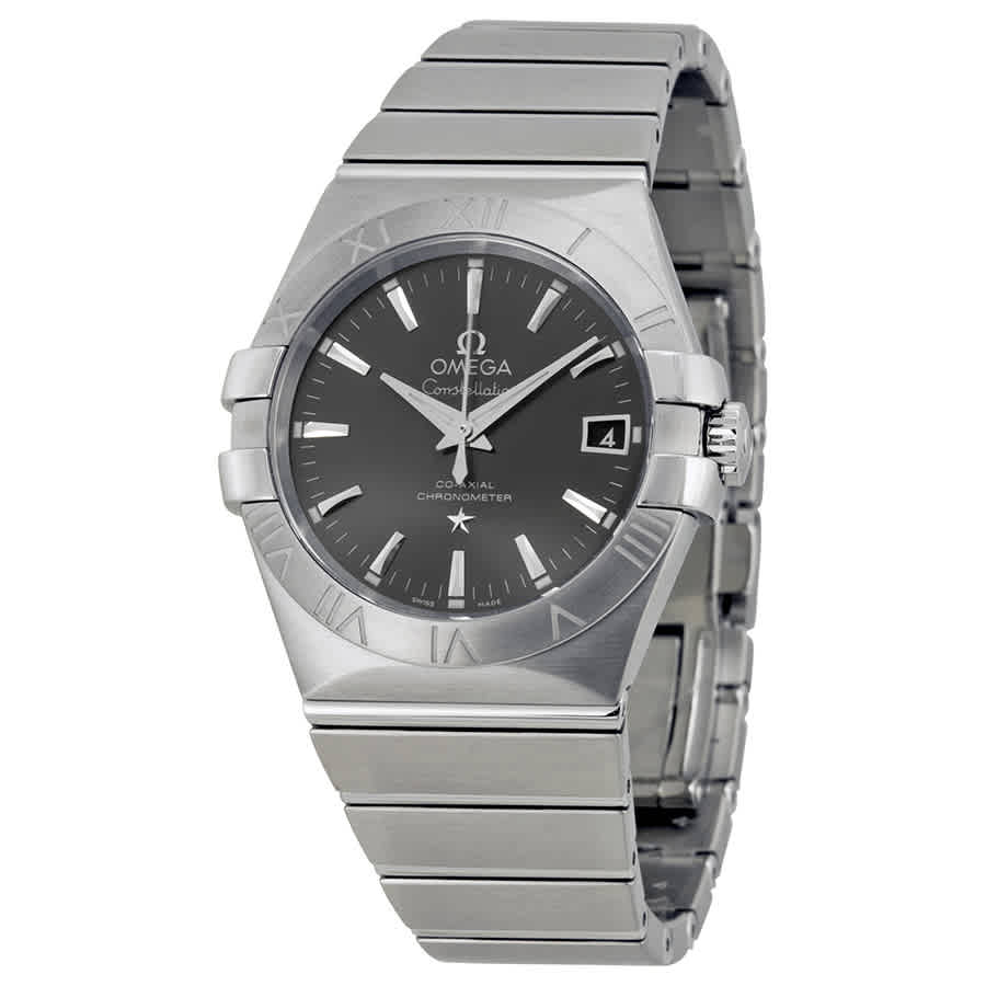 OMEGA CONSTELLATION AUTOMATIC GREY DIAL STAINLESS STEEL MENS WATCH 123.10.35.20.06.001