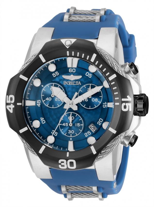 Invicta Bolt Chronograph Quartz Blue Dial Mens Watch 31167 In Black,blue